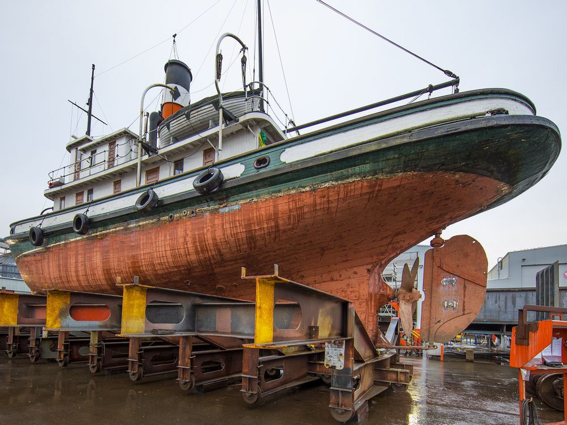 B.C.'s last wooden, steam-powered tugboat being restored for 100th birthday next year