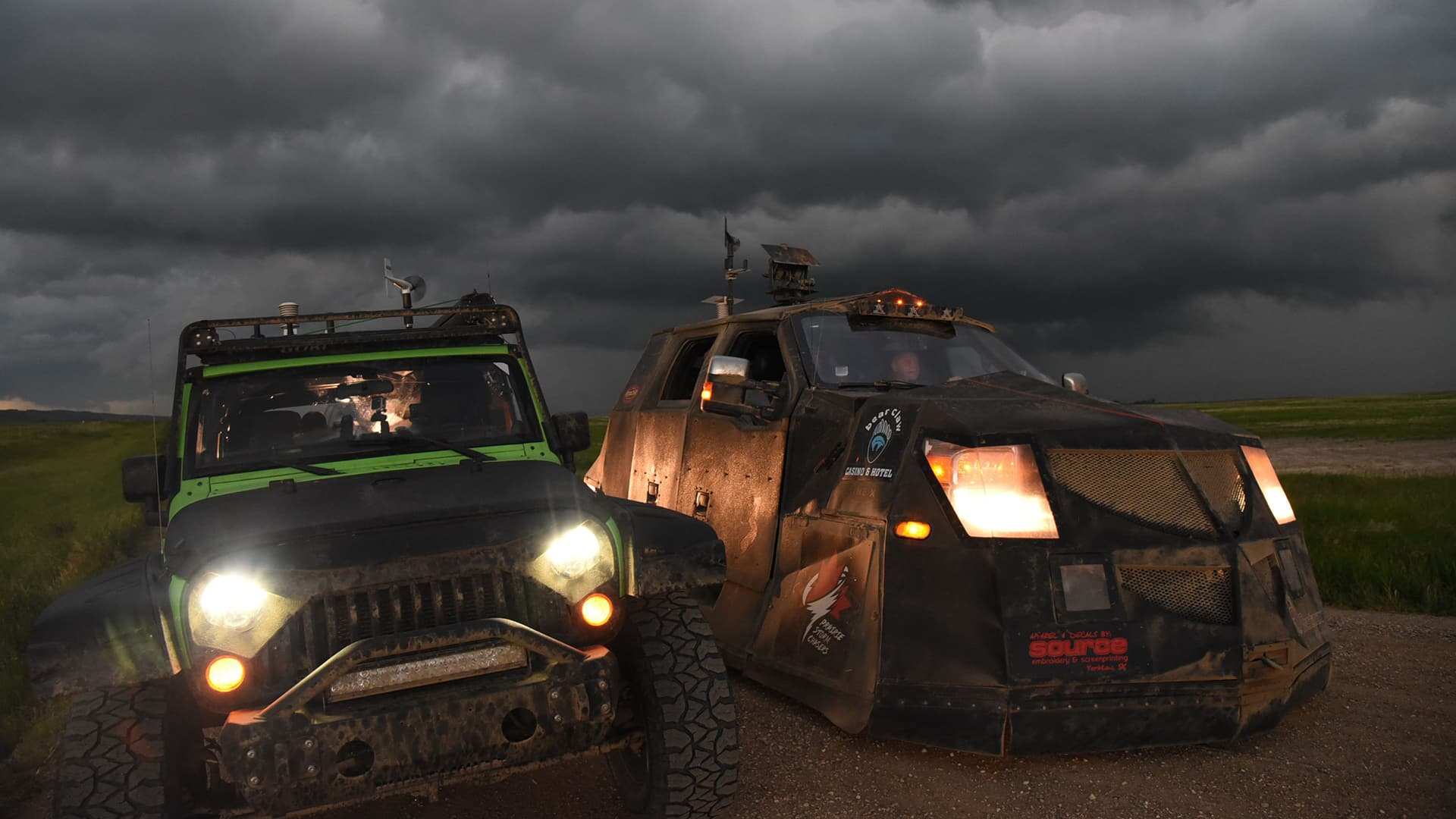This armoured vehicle and its crew chase high winds to predict tornadoes on Canada's prairies