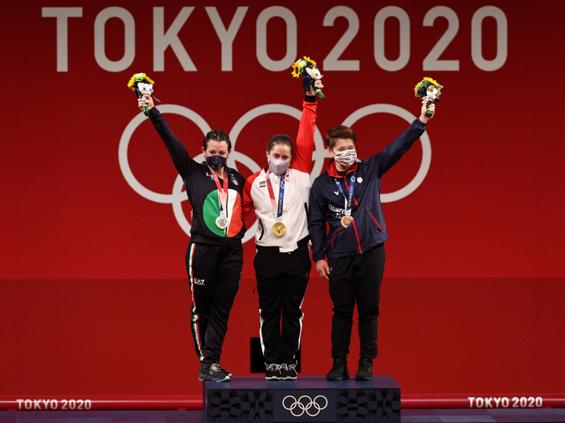 Canada's Maude Charron wins Olympic gold in weightlifting