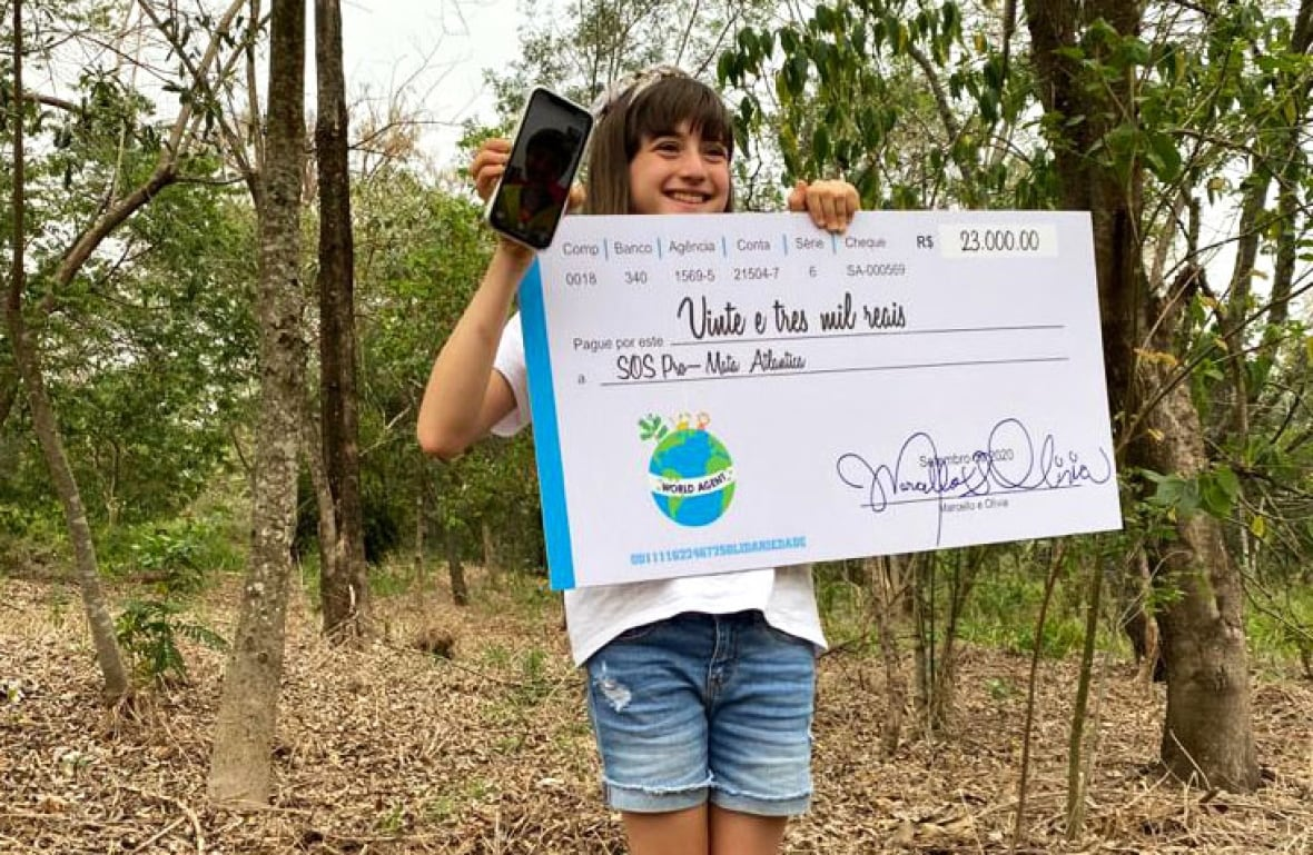 2 kids used social media to raise thousands of dollars for the Brazilian rainforest